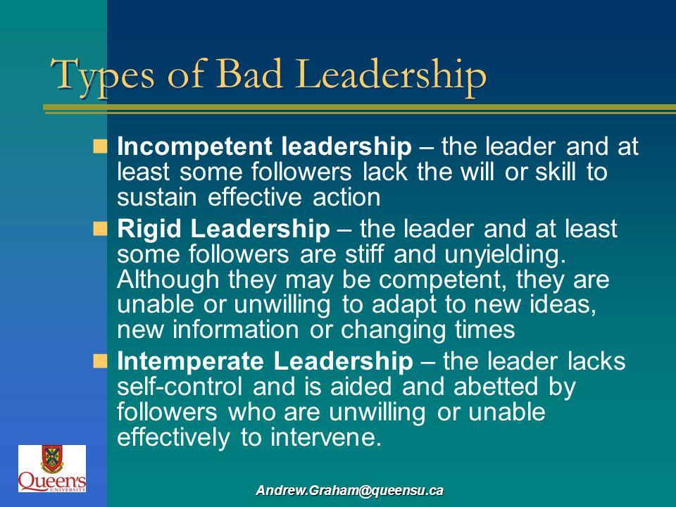 Types of Bad Leadership