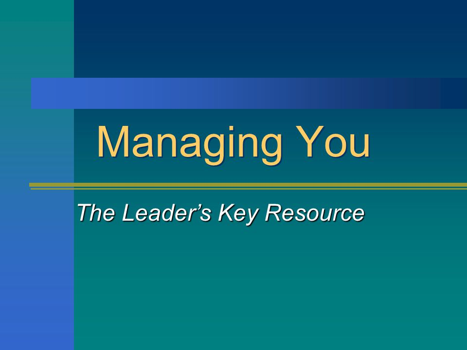 The Leader's Key Resource