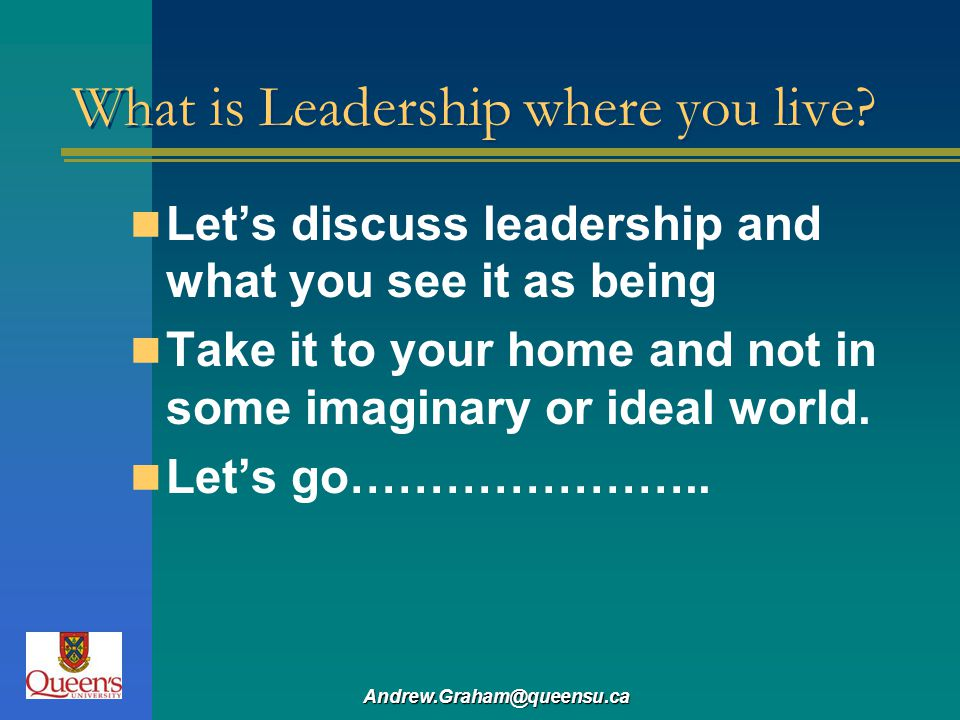 What is Leadership where you live