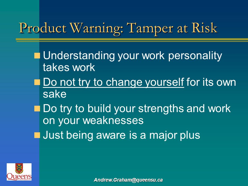 Product Warning: Tamper at Risk