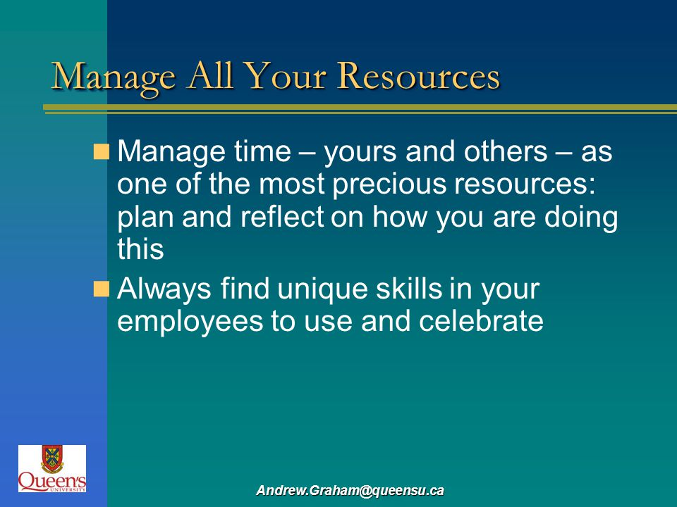 Manage All Your Resources