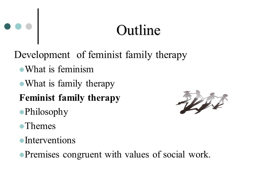 Outline Development of feminist family therapy What is feminism