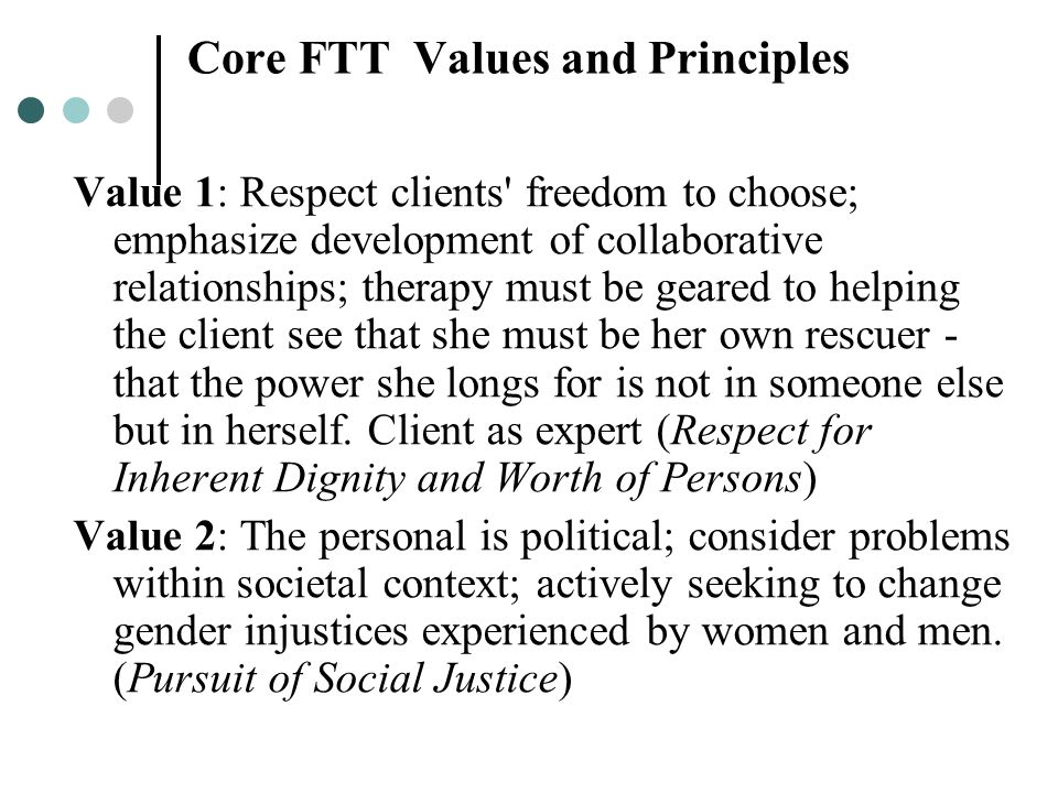Core FTT Values and Principles