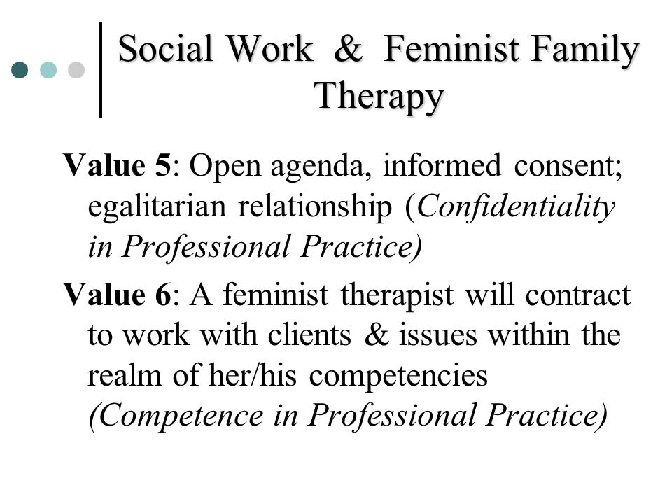 Social Work & Feminist Family Therapy