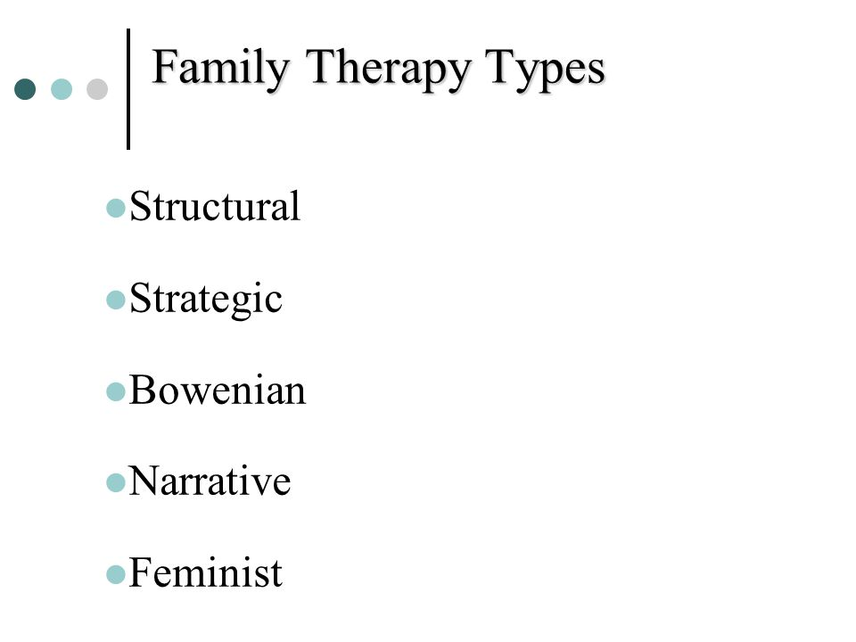 Family Therapy Types Structural Strategic Bowenian Narrative Feminist