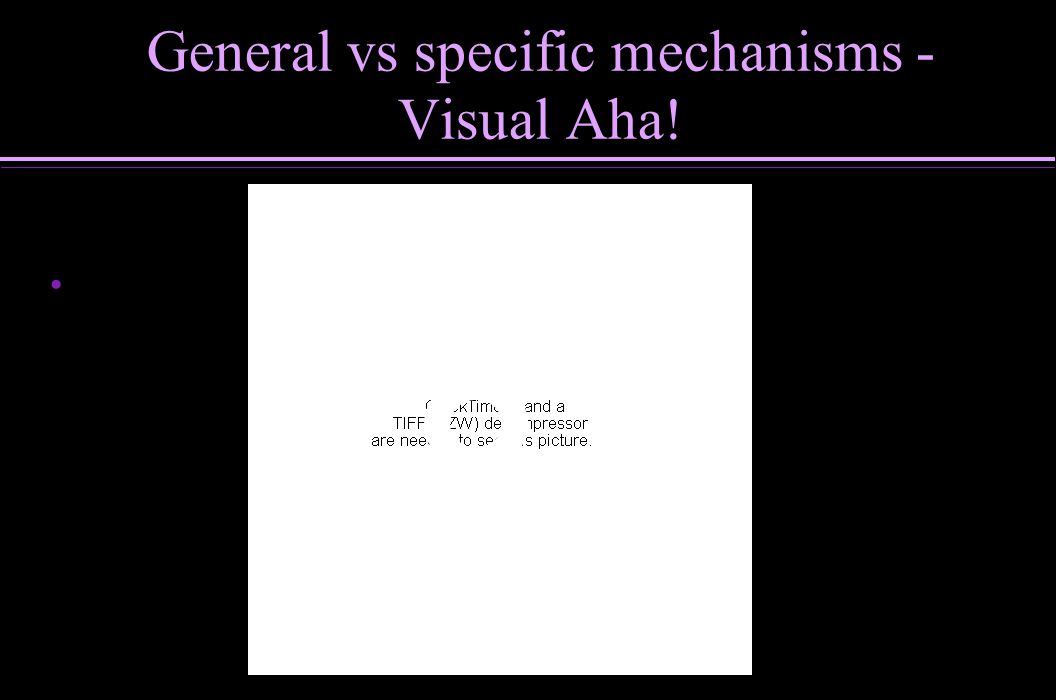 General vs specific mechanisms - Visual Aha!