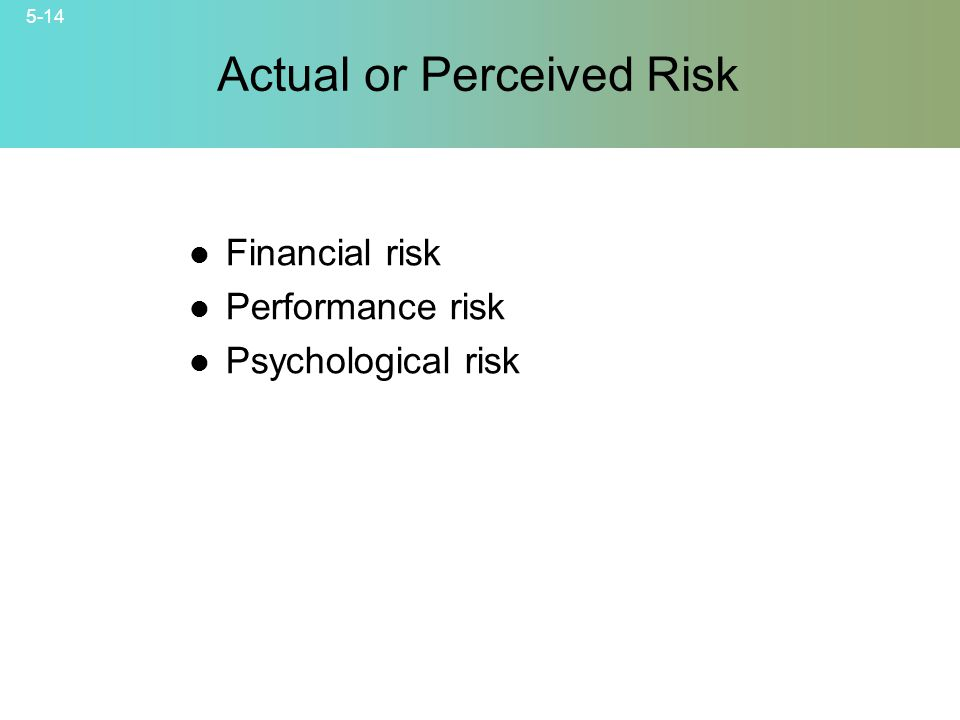 Actual or Perceived Risk