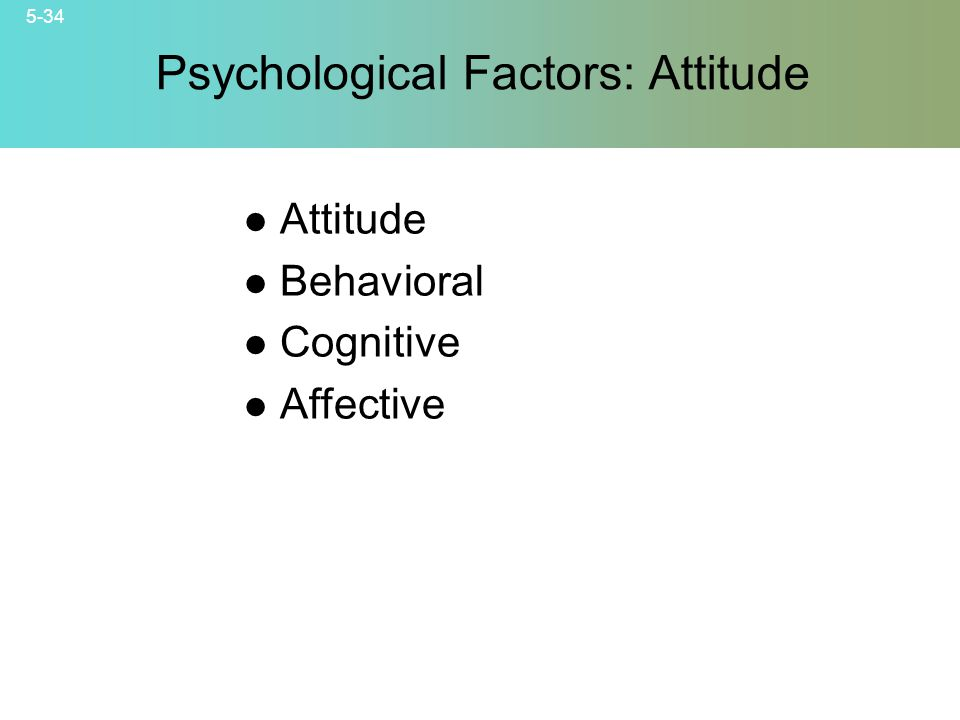 Psychological Factors: Attitude