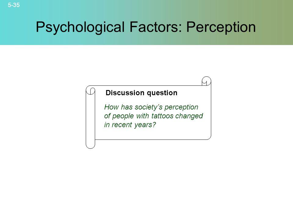 Psychological Factors: Perception