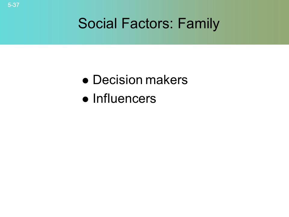 Social Factors: Family
