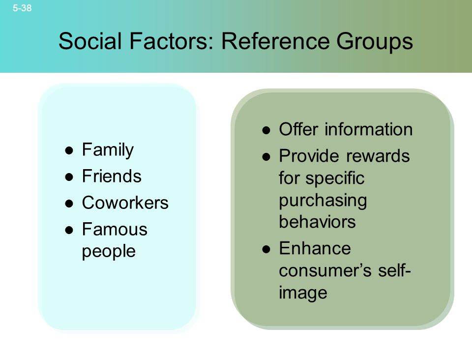 Social Factors: Reference Groups