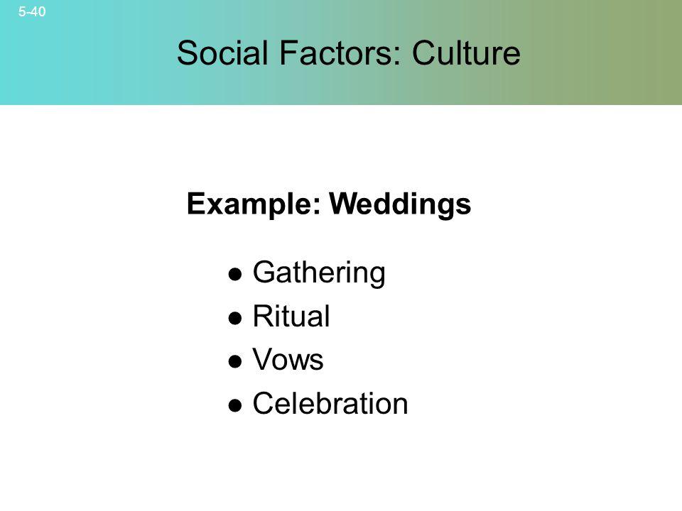Social Factors: Culture