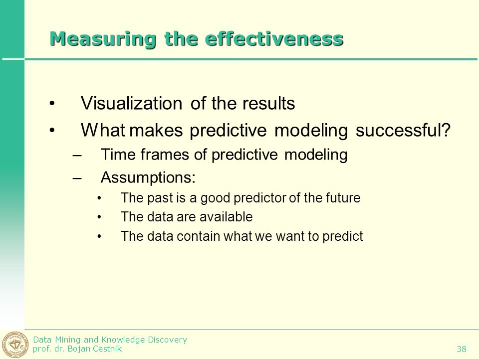 Measuring the effectiveness