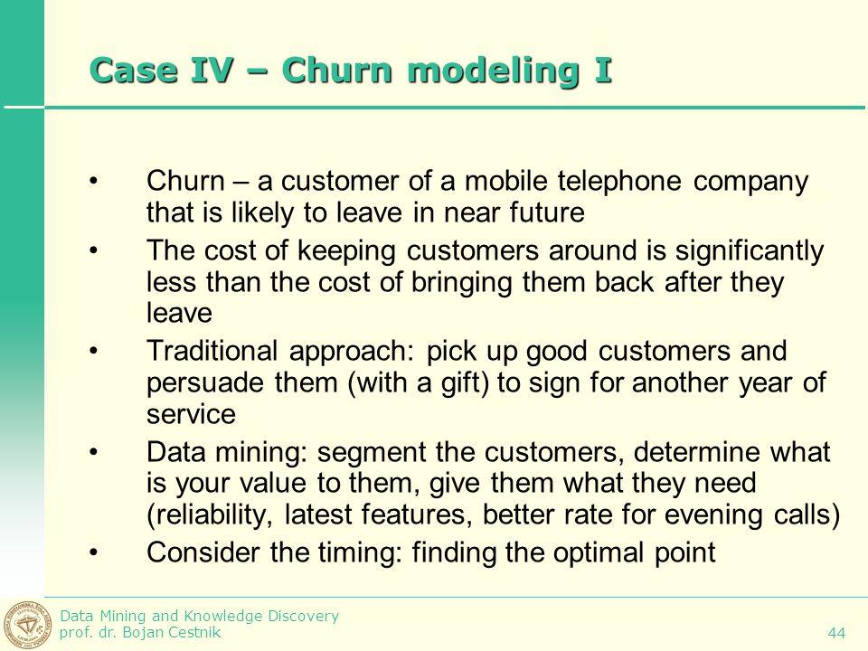 Case IV – Churn modeling I
