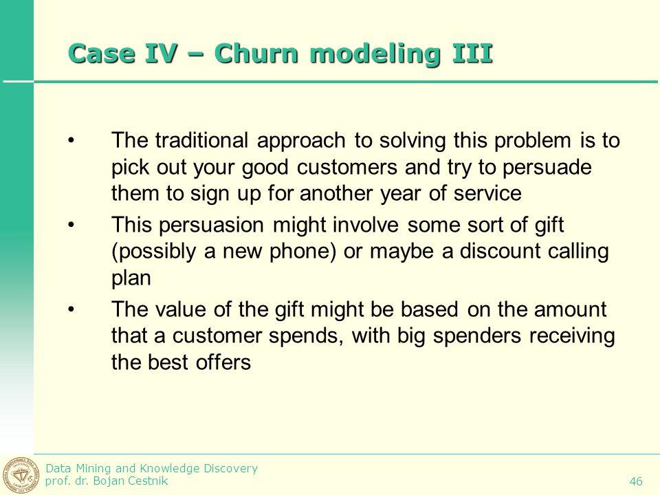 Case IV – Churn modeling III