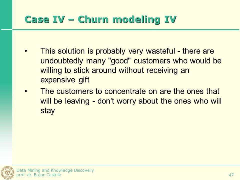 Case IV – Churn modeling IV