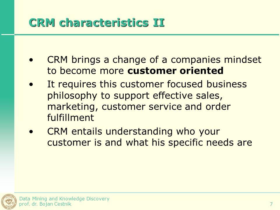 CRM characteristics II