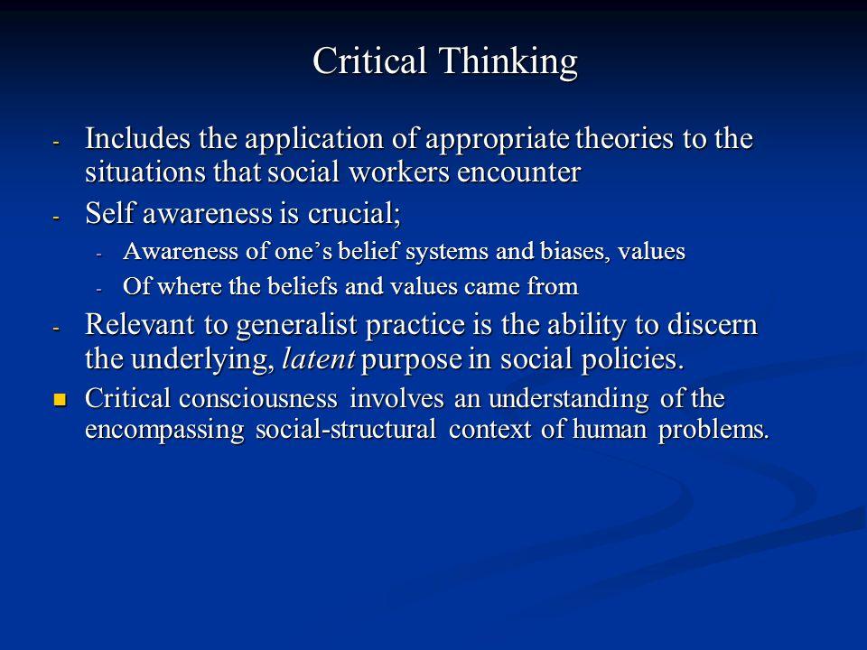 Self awareness is crucial;