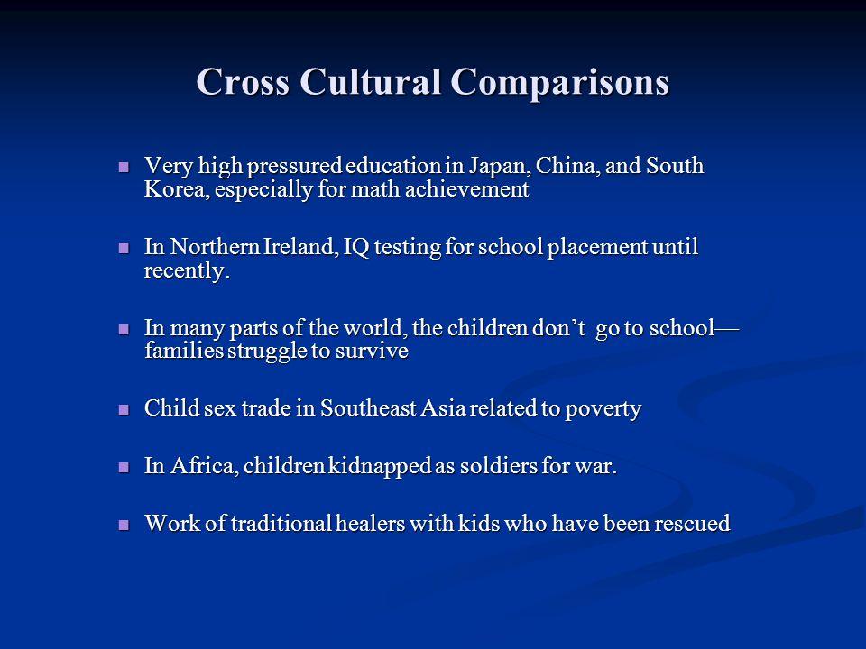 Cross Cultural Comparisons