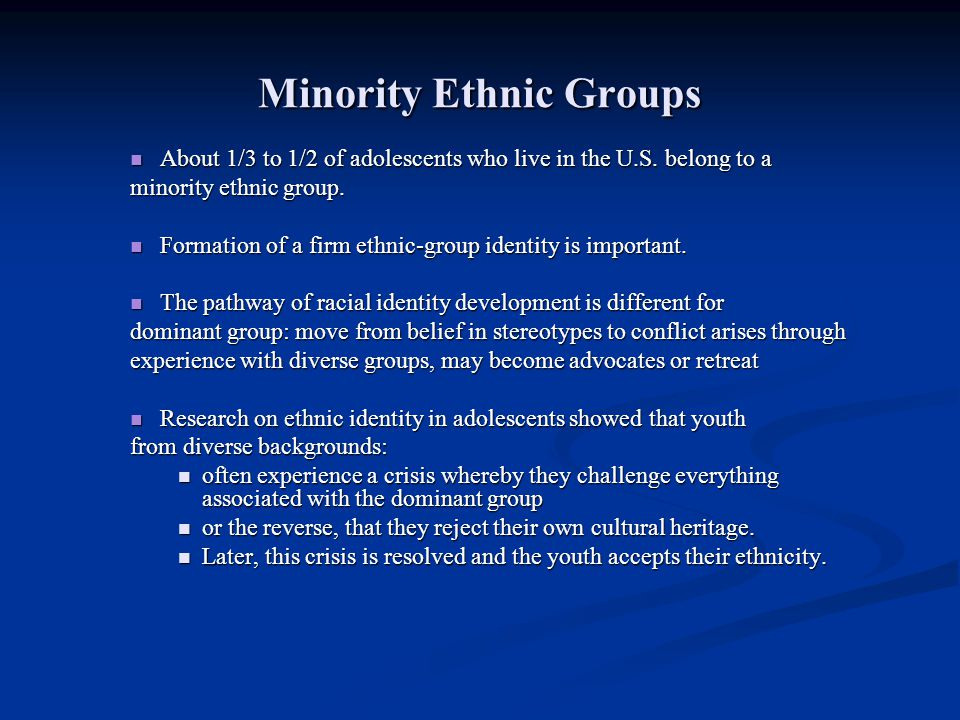 Minority Ethnic Groups
