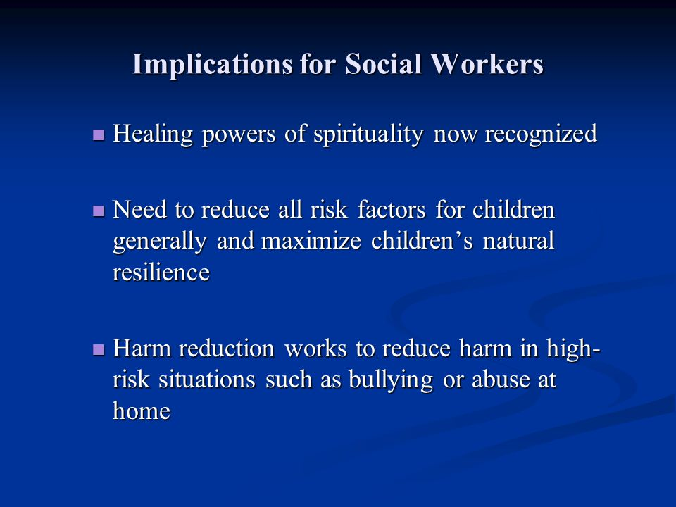 Implications for Social Workers