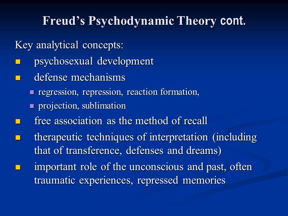 Freud's Psychodynamic Theory cont.