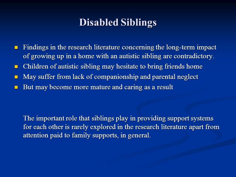 Disabled Siblings