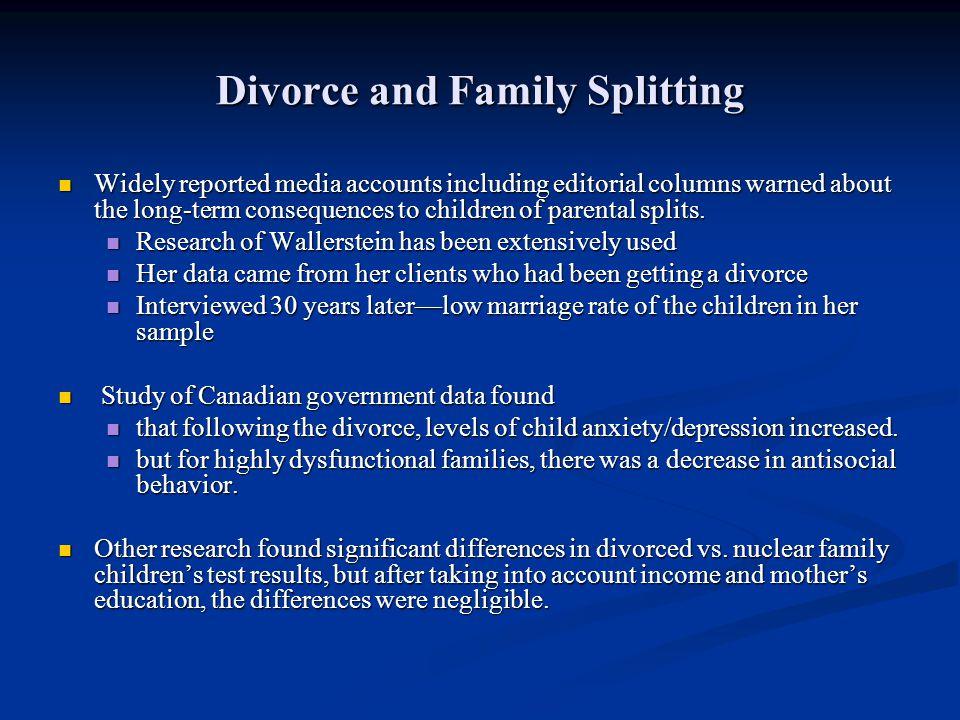 Divorce and Family Splitting