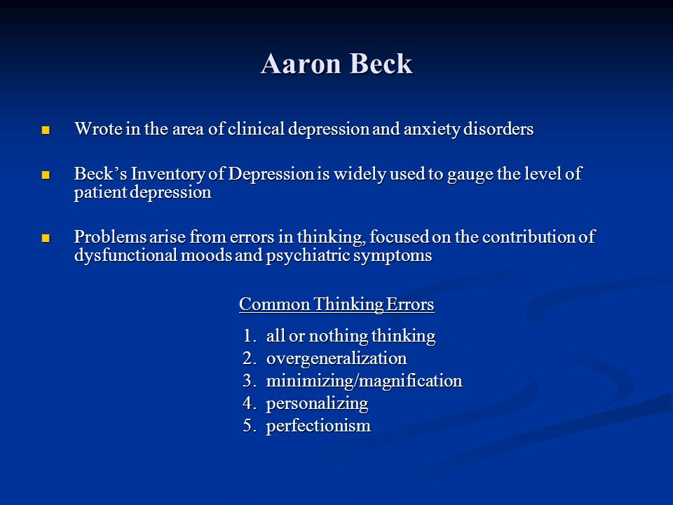 Common Thinking Errors