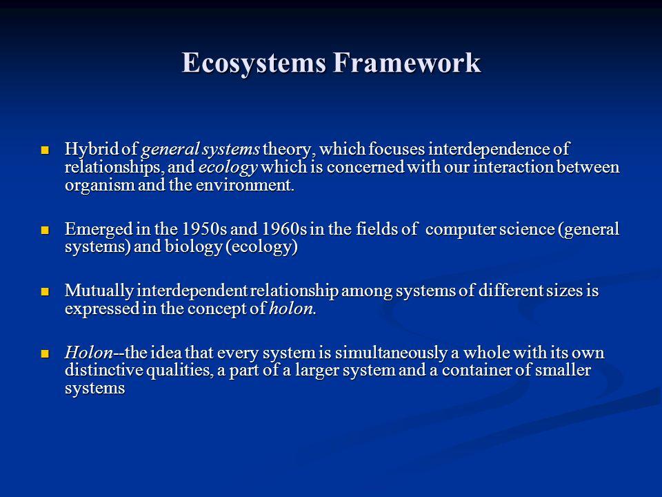 Ecosystems Framework