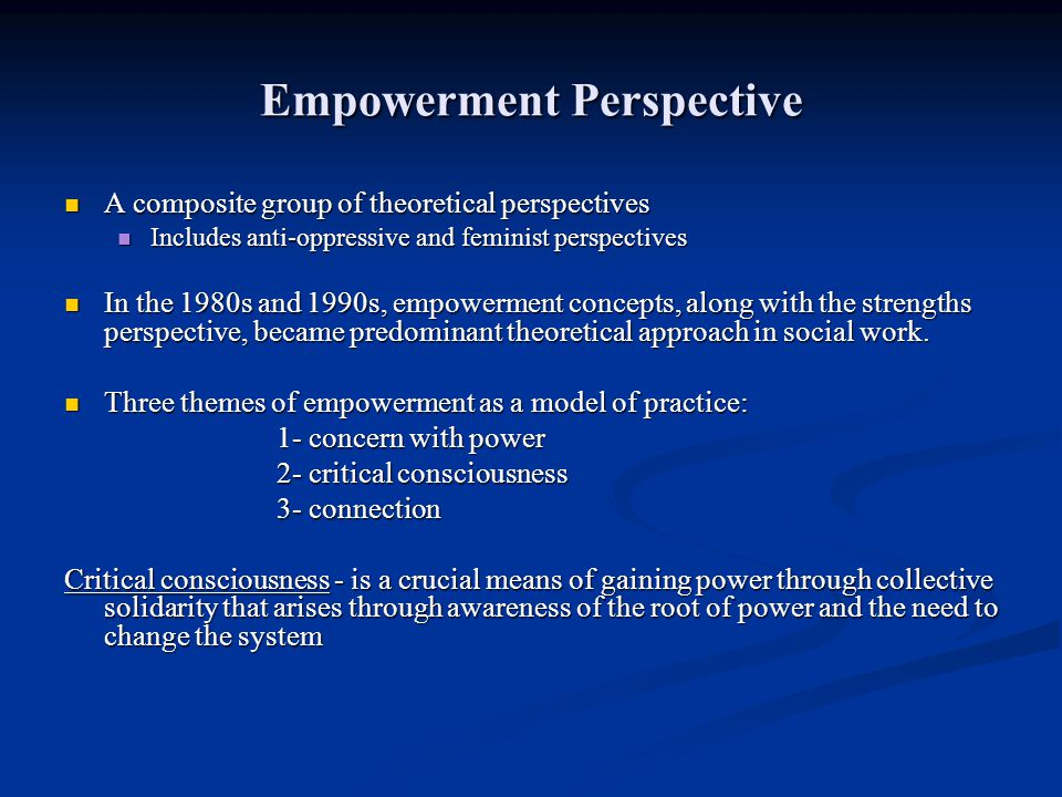 Empowerment Perspective