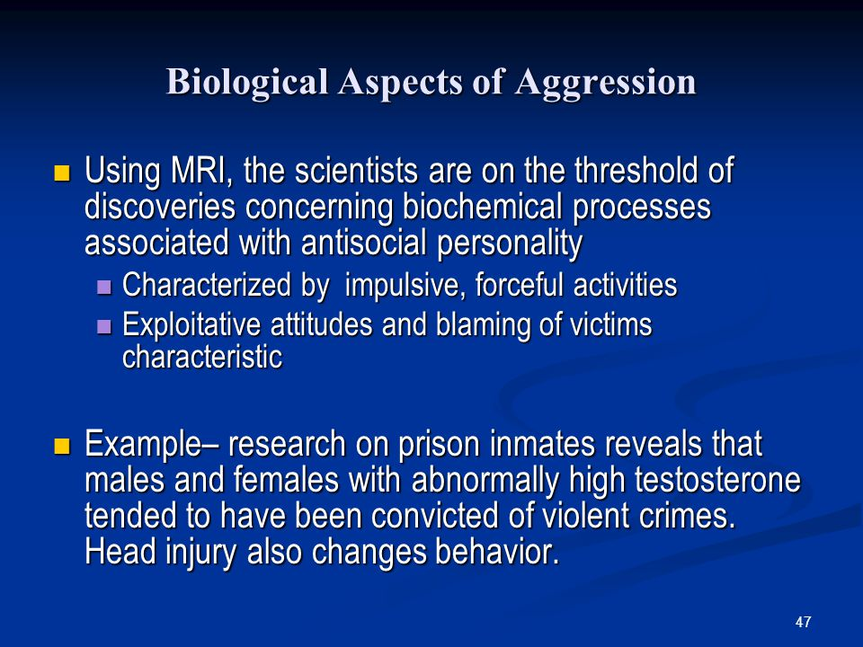 Biological Aspects of Aggression