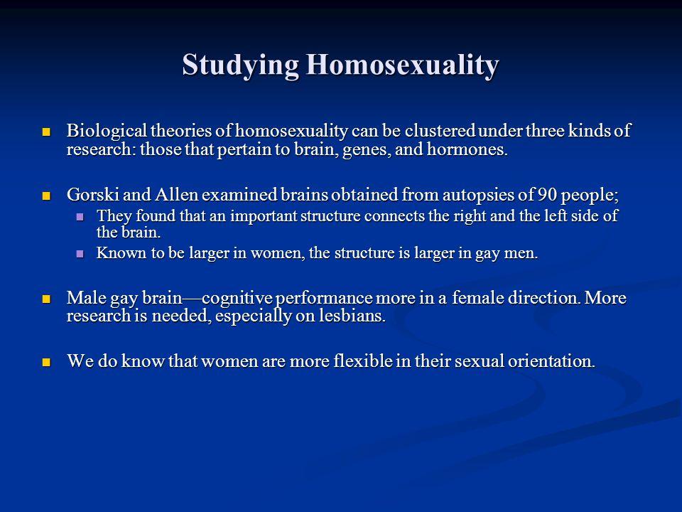 Studying Homosexuality