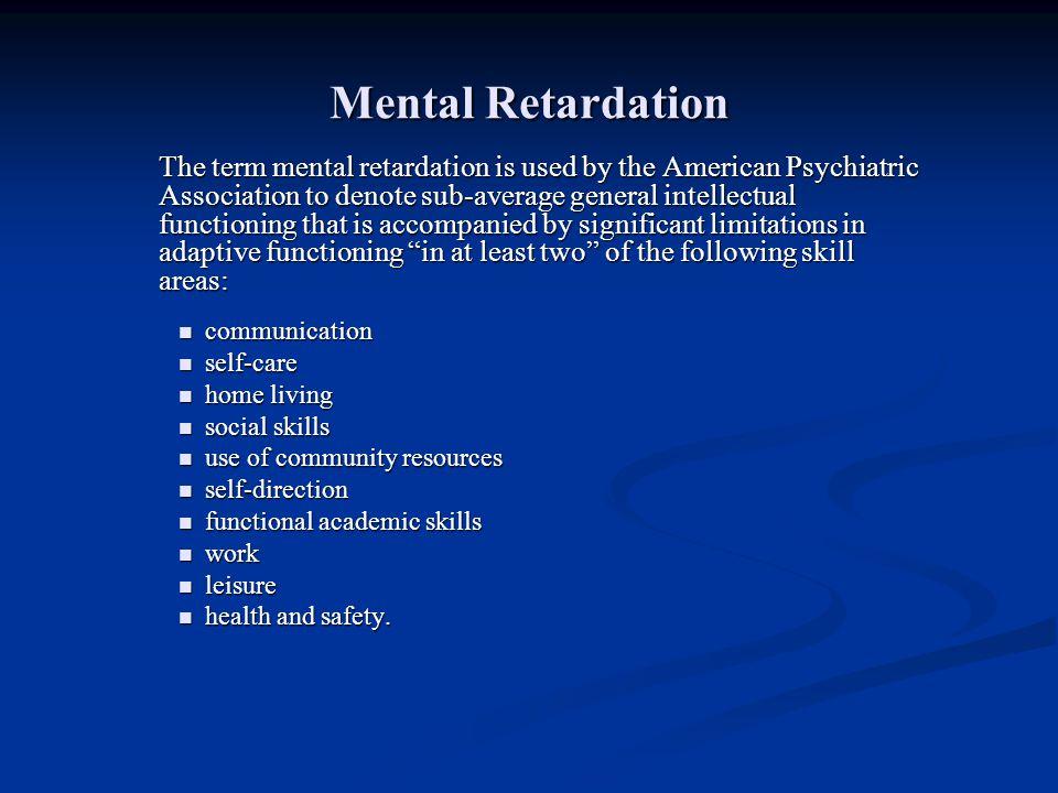Mental Retardation