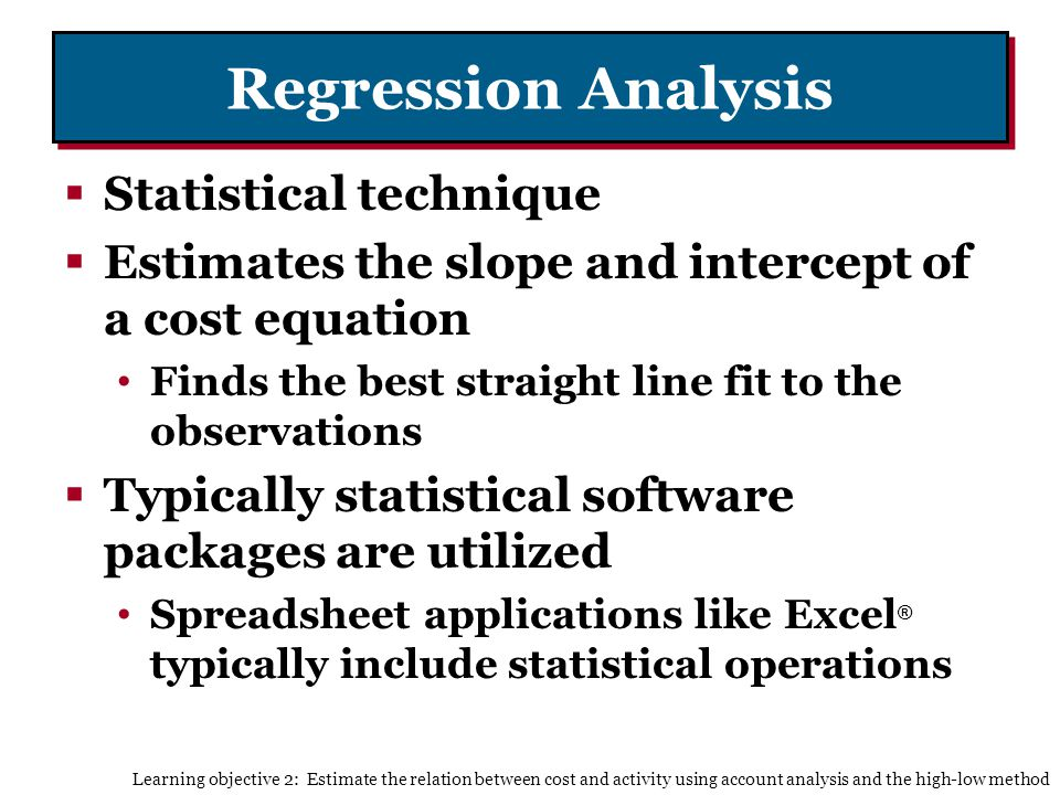 Regression Analysis Statistical technique
