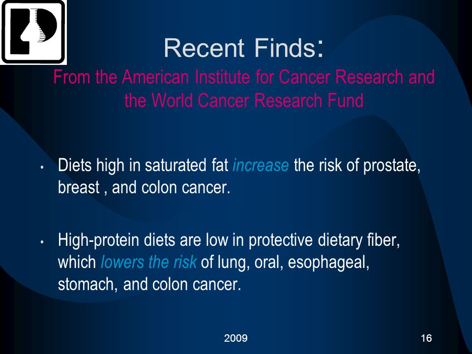 Recent Finds: From the American Institute for Cancer Research and the World Cancer Research Fund