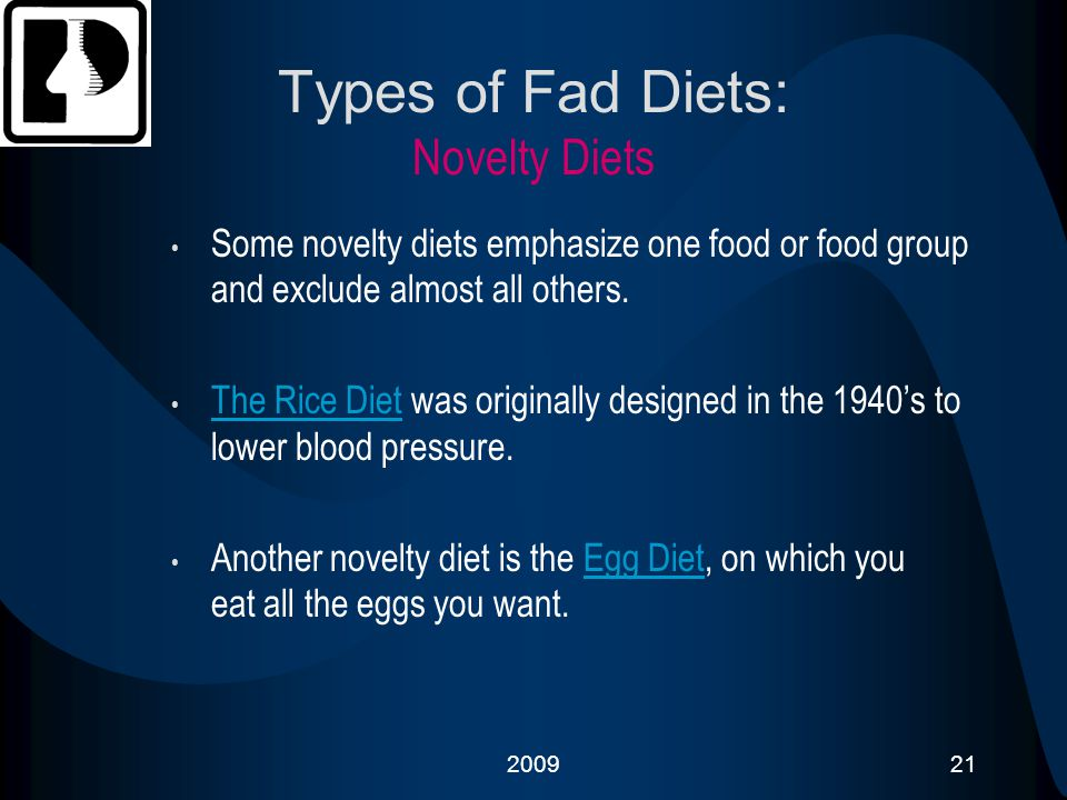 Types of Fad Diets: Novelty Diets