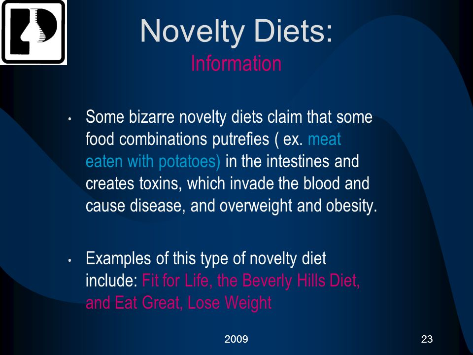 Novelty Diets: Information