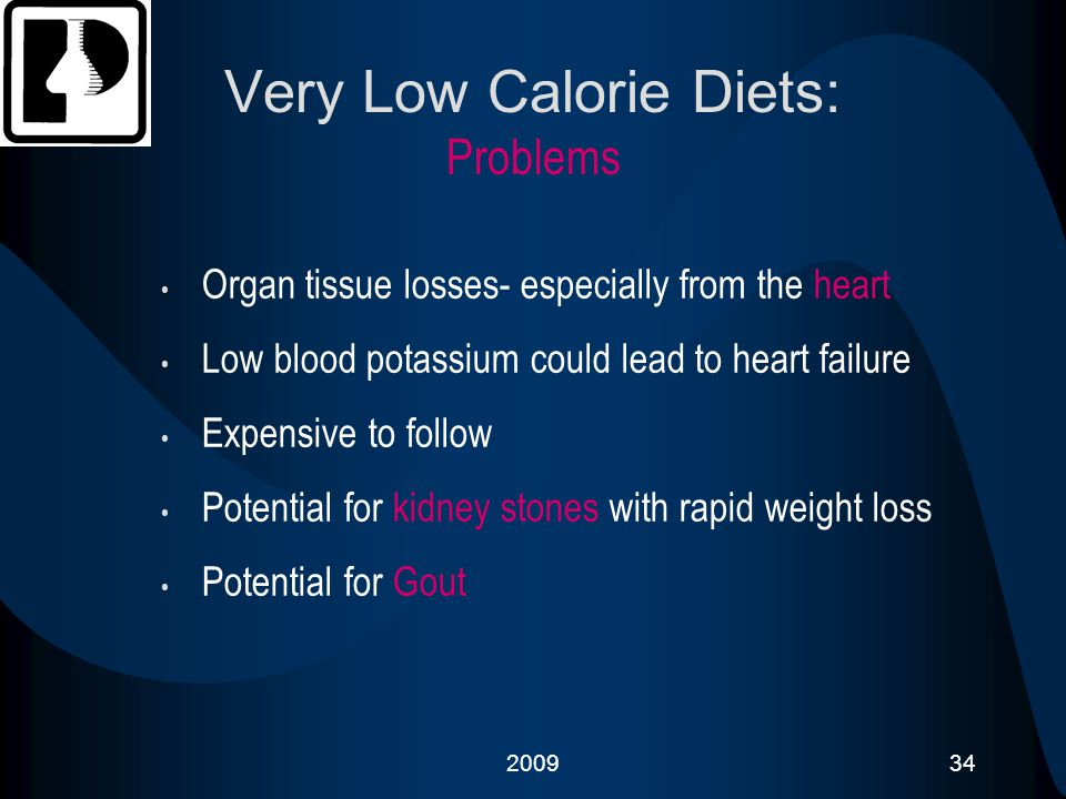 Very Low Calorie Diets: Problems
