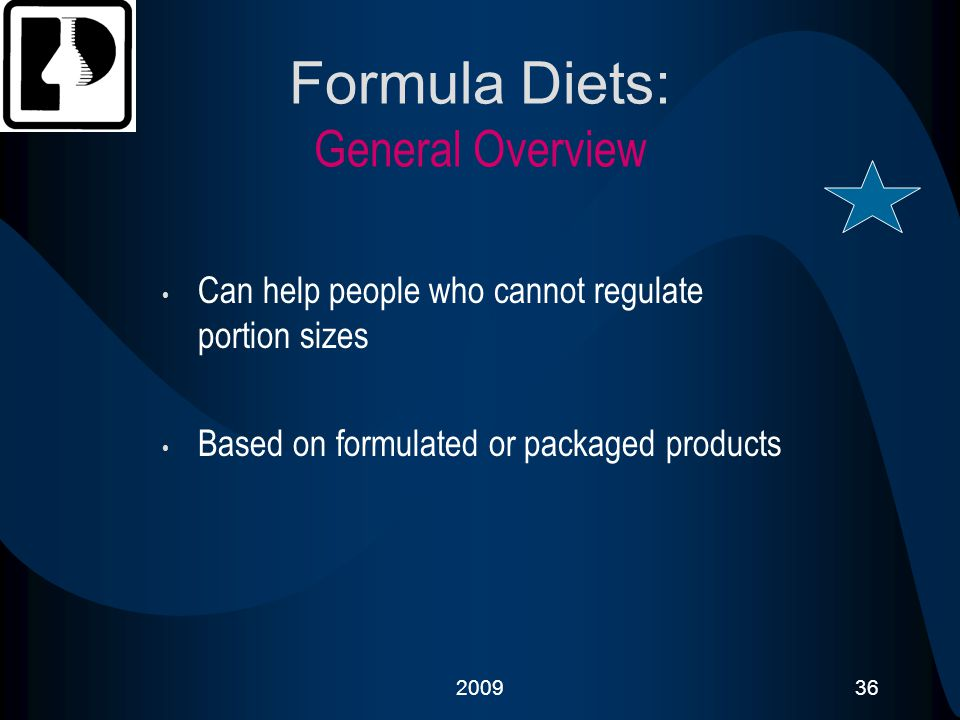 Formula Diets: General Overview