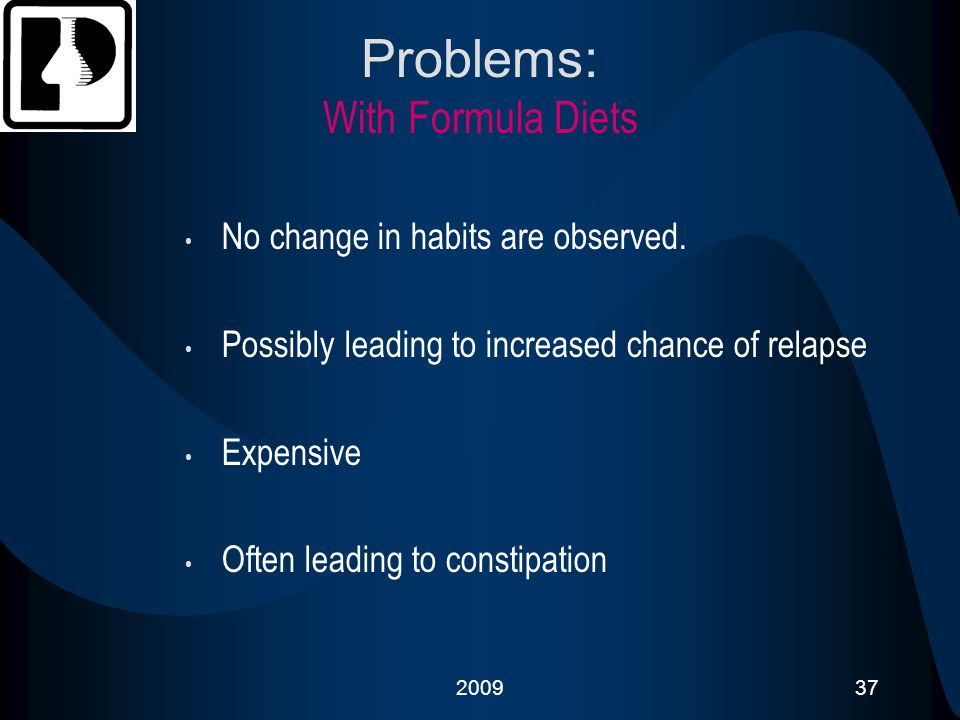 Problems: With Formula Diets