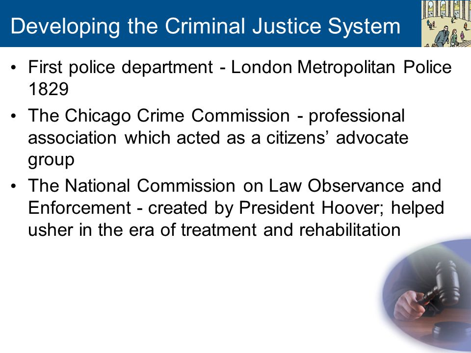 Developing The Criminal Justice System