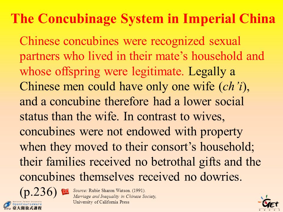 The Concubinage System in Imperial China