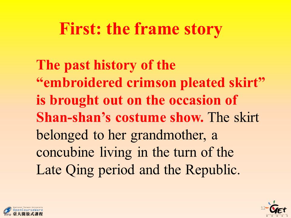 First: the frame story