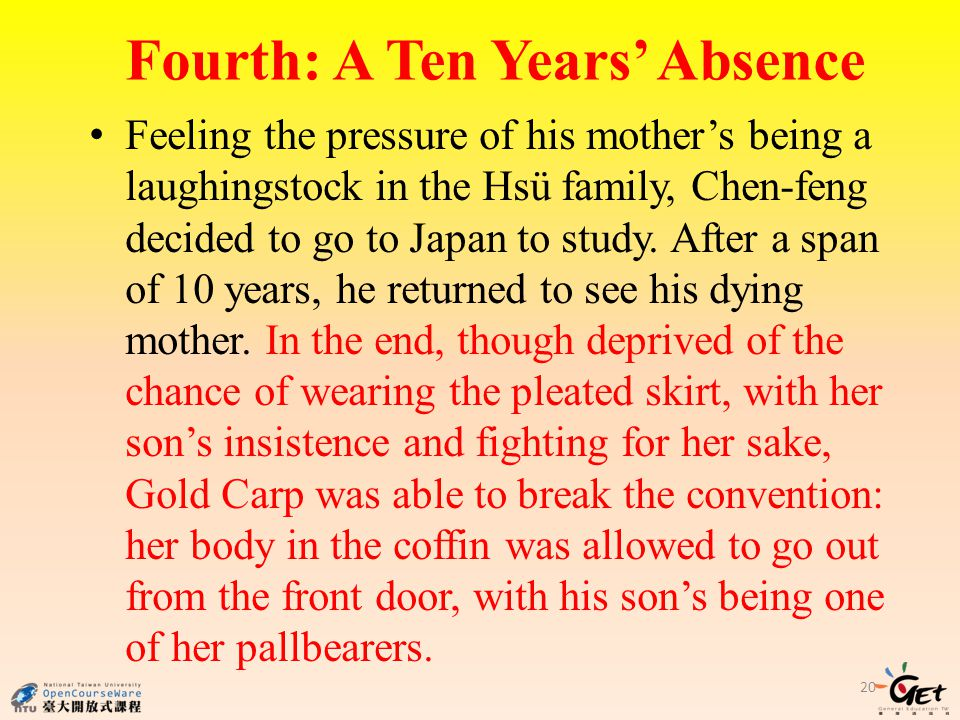 Fourth: A Ten Years' Absence