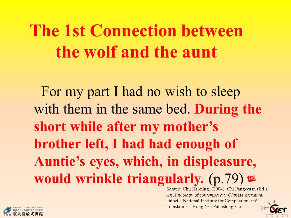 The 1st Connection between the wolf and the aunt