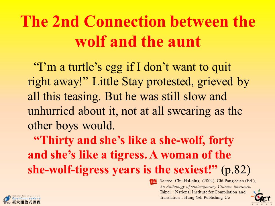 The 2nd Connection between the wolf and the aunt