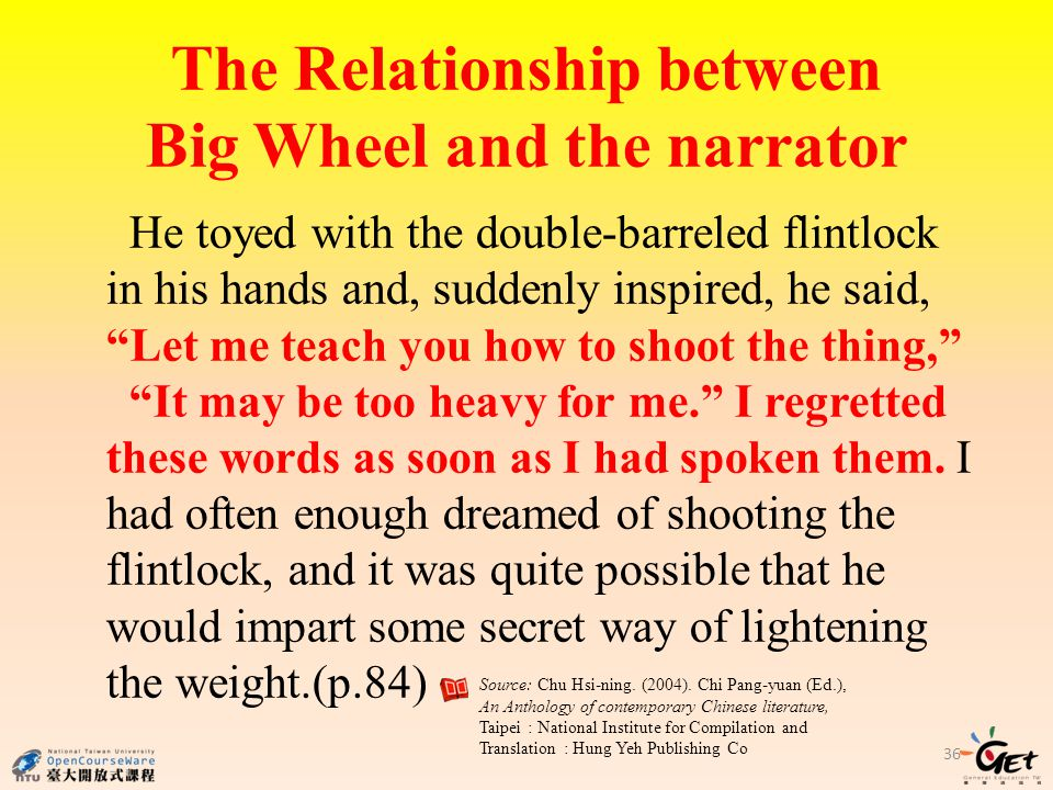 The Relationship between Big Wheel and the narrator