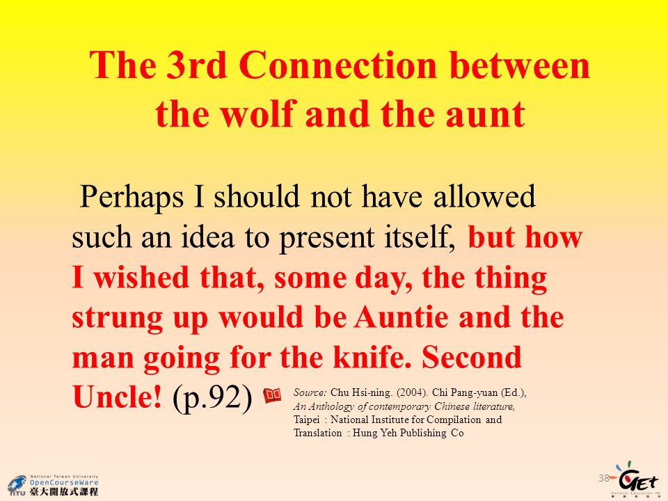 The 3rd Connection between the wolf and the aunt