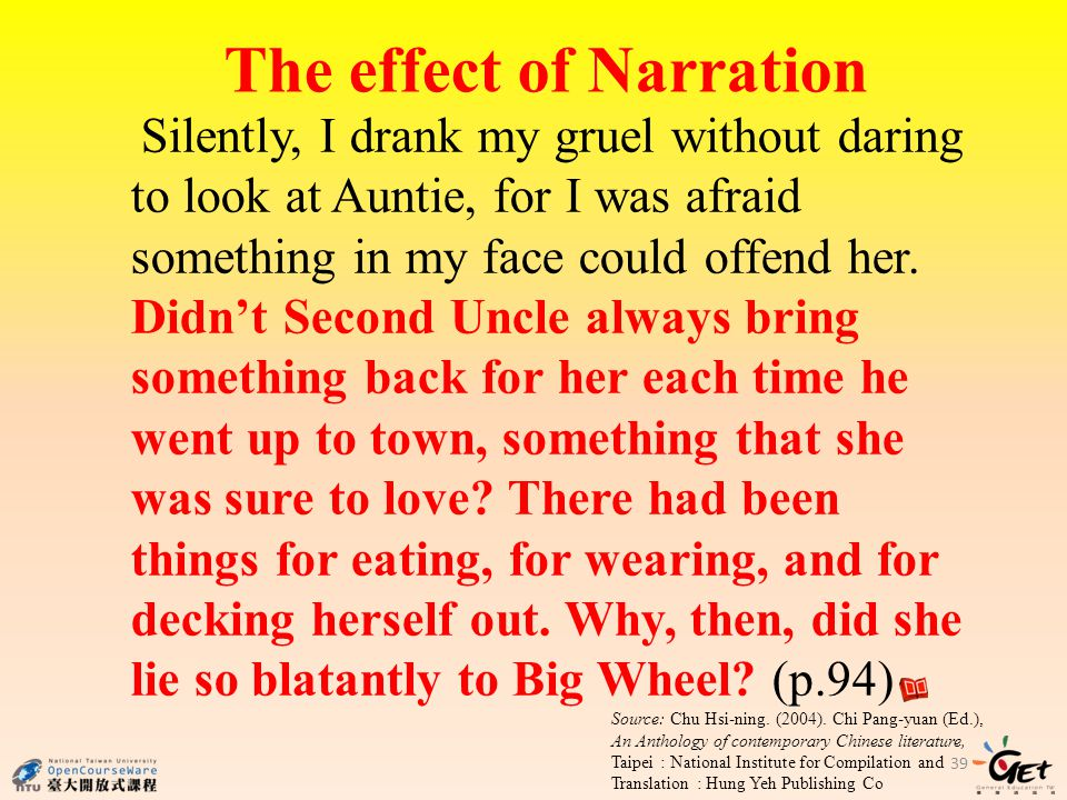 The effect of Narration